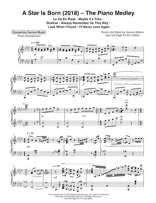 graphic about Let It Be Piano Sheet Music Free Printable titled Sheet Songs - Costantino Carrara New music
