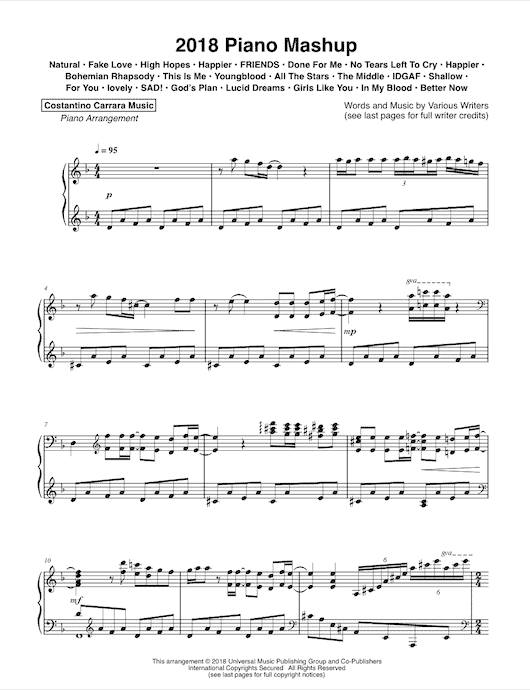 Sheet Music - Costantino Carrara Music